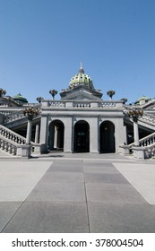 View of Pennsylvania State Capitol In Harrisburg