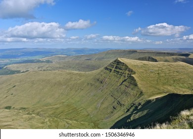 A View from Pen-Y-Fan, the Brecon Beacons, Powys, Wales.