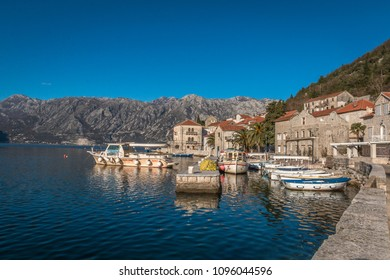 View of Perast Montenegro