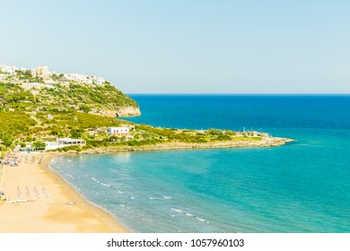 View of Peschici, the beautiful town in the Apulia south of Italy