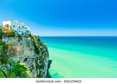View of Peschici, old town in Apulia region, south Italy