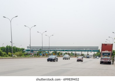A view of Peshawar-Islamabad Motorway near Peshawar Toll Plaza, Pakistan on 24th July 2017