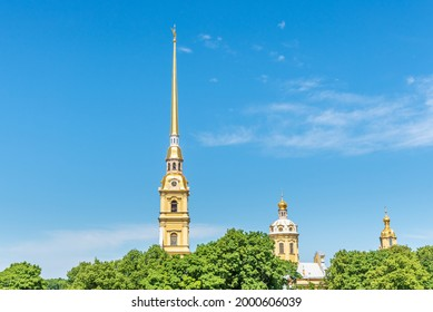 View of the Peter and Paul Cathedral in St. Petersburg