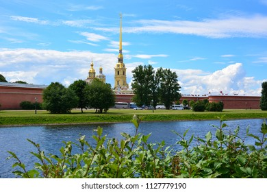 View of Peter and Paul's Fortress on the Hare Island, Saint Petersburg, Russia