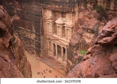 View of Petra in Jordan