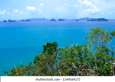 View of the Phang Nga Bay from the top of Koh Nok