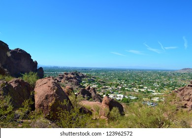 View of Phoenix, Arizona from Camelback Mountain
