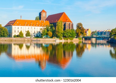 View of Piasek Island with Church of Our Lady, Wroclaw, Poland - Shutterstock ID 1230162004