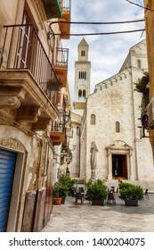 view from Piazza dell'Odegitria in old center of Bari, redion Puglia, Italy