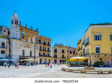 View of piazza Mercantile in Bari, Italy.
