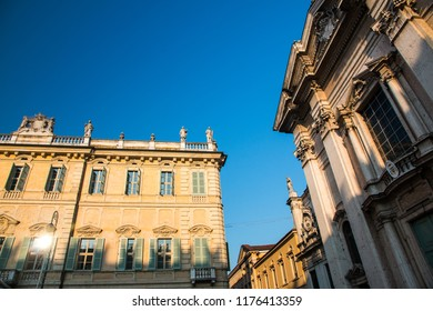 View of Piazza Sordello in Mantua (Mantova), north Italy