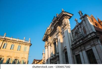 View of Piazza Sordello in Mantua (Mantova), north Italy