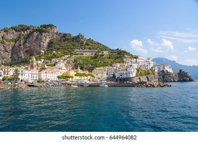 View of picturesque Amalfi town, Campania, Italy