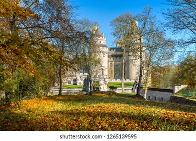 a view of pierrefonds castle ,  Hauts de France .