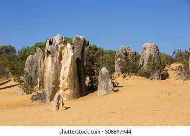View of the Pinnacle Desert near Cervantes, Australia.