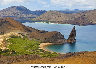 View of the pinnacle on Bartolome, Galapagos