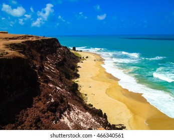 View at Pipa Beach in Brazil