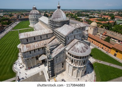 View of Pisa cathedral from the leaning tower.