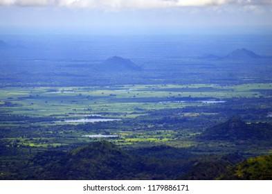 View of the plain from Ella Rock in Ella, Sri Lanka.