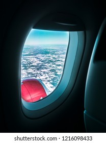 View from the plane above Ontario
