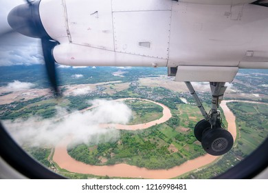 View from a plane wheel