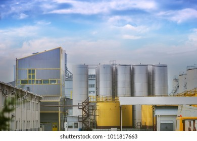 View of the plant, industrialization, economy