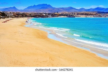view of Playa Esmeralda in Fuerteventura, Canary Islands, Spain