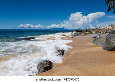 View at Playa las Animas near Puerto Vallarte in Mexico