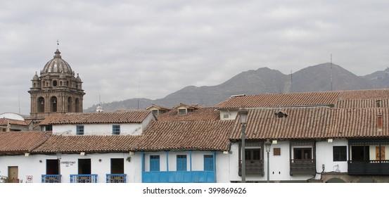 View from Plaza de Armas in Cusco, Peru