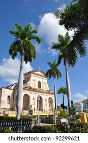 A view of plaza mayor in Trinidad, cuba , one of UNESCOs World Heritage sites since 1988
