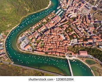 View of Plentzia, Bizkaia, Basque Country, Spain