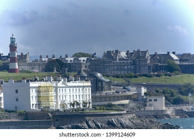 View of Plymouth Hoe, The sound and The Citadel