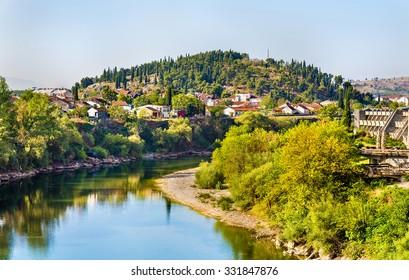 View of Podgorica with the Moraca river - Montenegro