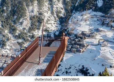 View Point in Andorra . Mirador Roc del Quer, Canillo. Andorra.