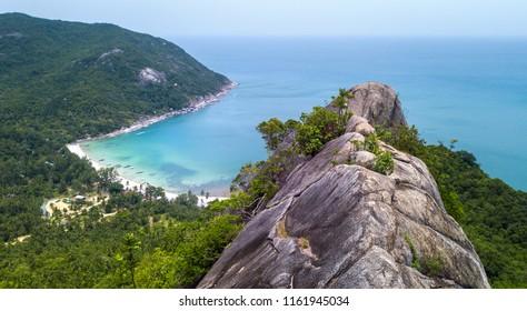 View point to the Bottle beach,koh Phangan island,Thailand