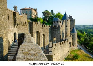 View point of Cite de Carcassonne, France