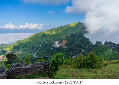 View point  Mist on Doi Pha Tang Fa in chiang rai province