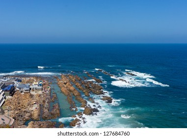 View of the Point at Mosselbay during holiday season