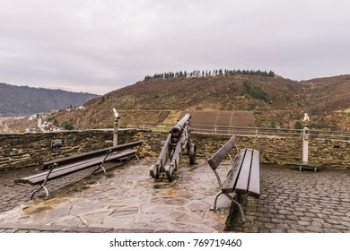 view point at the mountain Cochem Castle Germany during autumn season