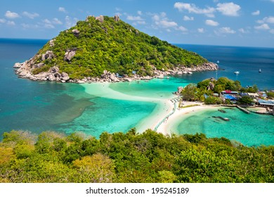View point of Nang Yuan island of Koh Tao island Thailand