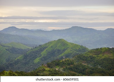 """View point of """" Nern Chang Suek """", Pilok, is one of interesting places in Kanchanaburi because it is the view point on the mountain, Thailand-Burma border in Thongphaphum, Thailand"""