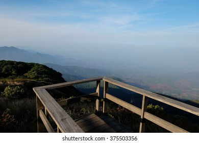 the view point on the mountain of Thailand is feel like you in the natural