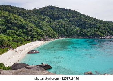 View Point At Similan Islands, Warm And Clear Azure Ocean Waters, Andaman Sea, Phangnga, Thailand.