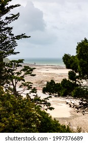 View of the Pointe du Roc, the Haute-Ville and the Casino de Granville (Manche, Normandy)