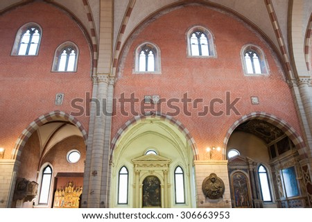 View Pointed Arch Inside Gothic Cathedral Stock Photo (Edit