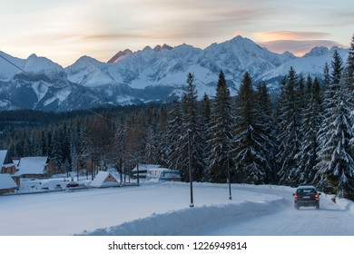 view from Polana Zgorzelisko to the Tatra Mountains, Tatra National Park, Poland