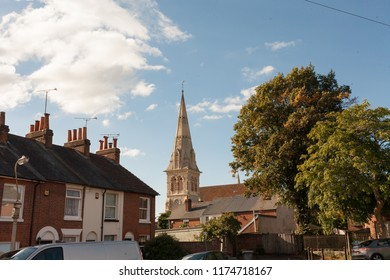 View of the Polish Roman Catholic Church of the Sacred Heart of Jesus in Reading, UK