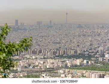A view of  polluted city of Tehran, capital city of Iran
