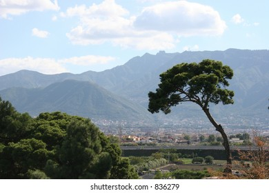 View from Pompeii, Italy.