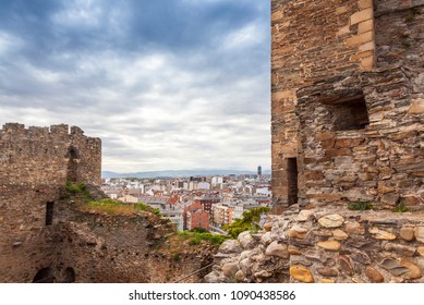 View of Ponferrada from the templar castle